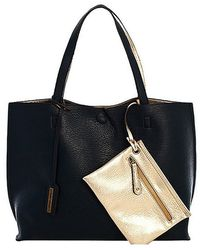 Bungalow 20 - Reversible Leather Tote In Navy - Lyst
