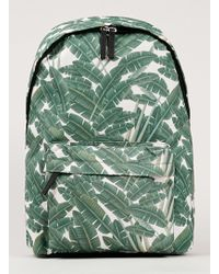 Topman Green Palm Leaf Print Backpack - Lyst