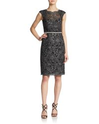 JS Boutique | Floral-embroidered Sheath Dress | Lyst