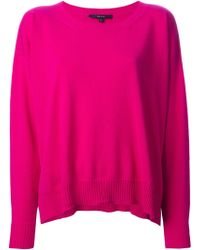 Gucci Pink Oversized Sweater - Lyst