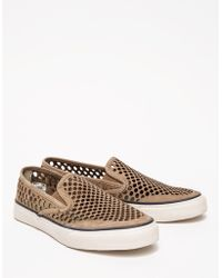 Sperry Cvo Laser Perf Slip On in Taup - Lyst