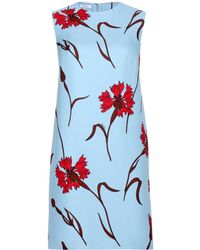 Miu Miu Printed Crepe Dress - Lyst