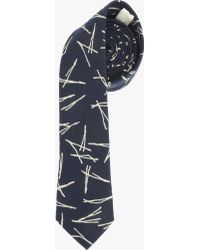 7 For All Mankind - Pocket Square Clothing The Heron Tie In Navy - Lyst
