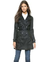 7 For All Mankind - Trench Coat - Fashion Rinse Denim - Lyst