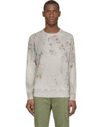Diesel Grey Faded S_Crix Sweatshirt - Lyst