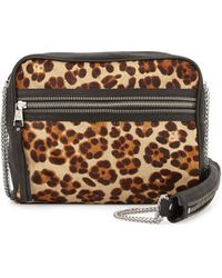 Ash Domino Leopard-Print Crossbody Bag - Lyst