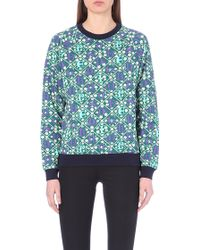 Mary Katrantzou Letter-Print Cotton-Jersey Sweatshirt - Lyst