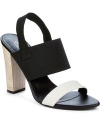 Charles By Charles David Lake Chunky Heels - Lyst