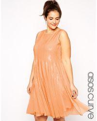 Asos Curve Mesh & Sequin Skater Dress - Lyst