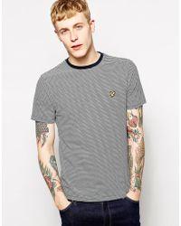 Lyle & Scott Lyle & Scott T-Shirt With Fine Stripe - Lyst
