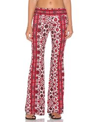 Gypsy 05 - Printed Bell Bottom Pant - Lyst