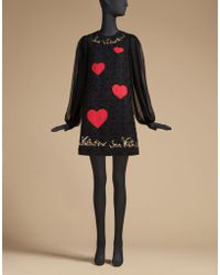 Dolce & Gabbana | St Valentine Dress In Tulle Embroidered With Sequins | Lyst