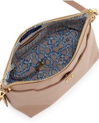 Eric Javits Joy Pebbled Leather Shoulder Bag - Lyst