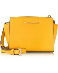 Michael Kors Selma Saffiano Leather Mini Messenger - Lyst