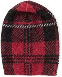 M Missoni - Check Jacquard Beanie Hat - Lyst