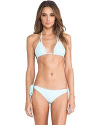 Mikoh Swimwear Kirra String Triangle Top - Lyst