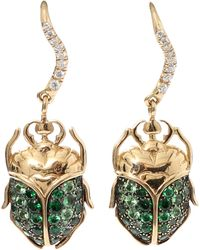 Aurelie Bidermann | Tsavorite Beetle Earrings | Lyst