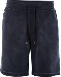 Diesel Blue Sweat Shorts - Lyst