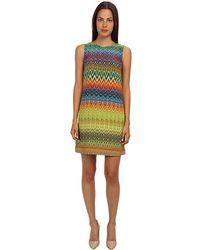 M Missoni Zig Zag Print Silk Shift Dress - Lyst