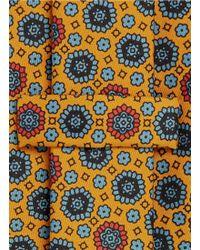E. Marinella - Floral Arabesque Print Five Fold Silk Tie - Lyst