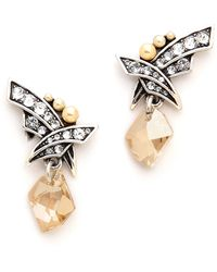 Jenny Packham - Fountain I Earrings - Silver Pearl - Lyst