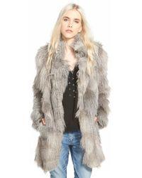 Plenty by Tracy Reese - 'cuddle' Faux Fur Coat - Lyst