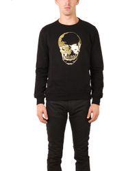 Markus Lupfer Skull Gold Foil Sweatshirt - Lyst