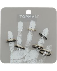 Topman Thin Band Ring Multipack - Lyst