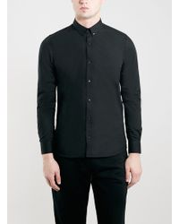 Topman Selected Homme Black Globe Shirt - Lyst