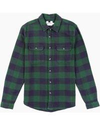 Topman | L/s Buffalo Check Overshirt | Lyst