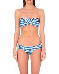 Seafolly Striped Bandeau Bikini Top - For Women - Lyst