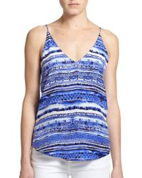 Rory Beca Kingston Printed Silk Camisole - Lyst