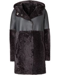 Iris Von Arnim Leather Coat Temuco - Lyst