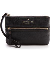 Kate Spade Black Bee Wristlet  - Lyst