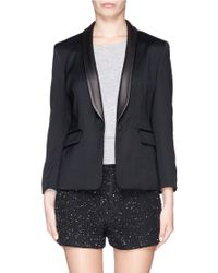 Rag & Bone Harper Leather Lapel Blazer - Lyst