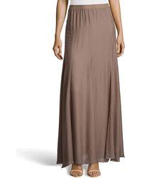 Halston Heritage Flowy Chiffon Maxi Skirt - Lyst