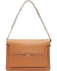 Marni Brown Leather Shoulder Bag - Lyst