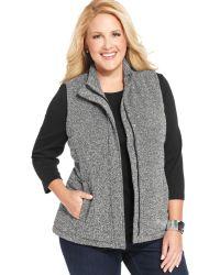 Jones New York Signature Plus Size Tweed Vest - Lyst