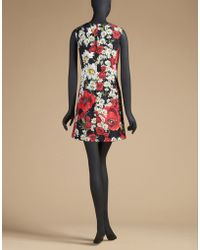 Dolce & Gabbana | Flared Dress In Printed Brocade | Lyst