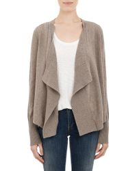 Barneys New York Drapefront Cardigan - Lyst