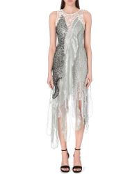 Rodarte Embellished Sea Foam Dress - For Women gray - Lyst