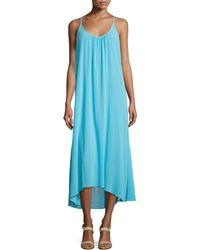 Minnie Rose - Gauze Sleeveless High-Low Maxi Dress - Lyst