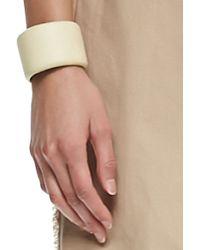 Brunello Cucinelli Leather Cuff Bracelet - Lyst