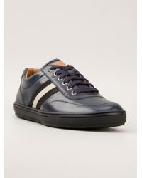 Bally Contrast Stripe Sneakers - Lyst