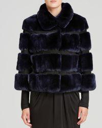 Diane Von Furstenberg Jacket  Loretta Crop Fur - Lyst