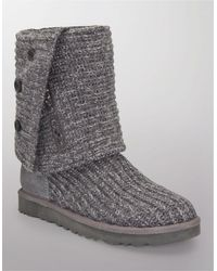Ugg Classic Cardy Knit Boots - Lyst