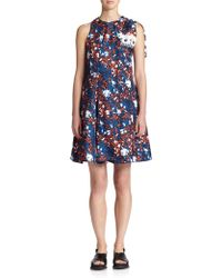 Thakoon Printed Silk Dress multicolor - Lyst