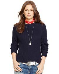 Polo Ralph Lauren Pima Cotton Crewneck Sweater - Lyst
