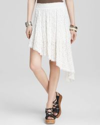 Free People Skirt - Smocked Lace Tea Party - Lyst