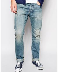 Esprit Tapered Fit Jean with Blasting - Lyst